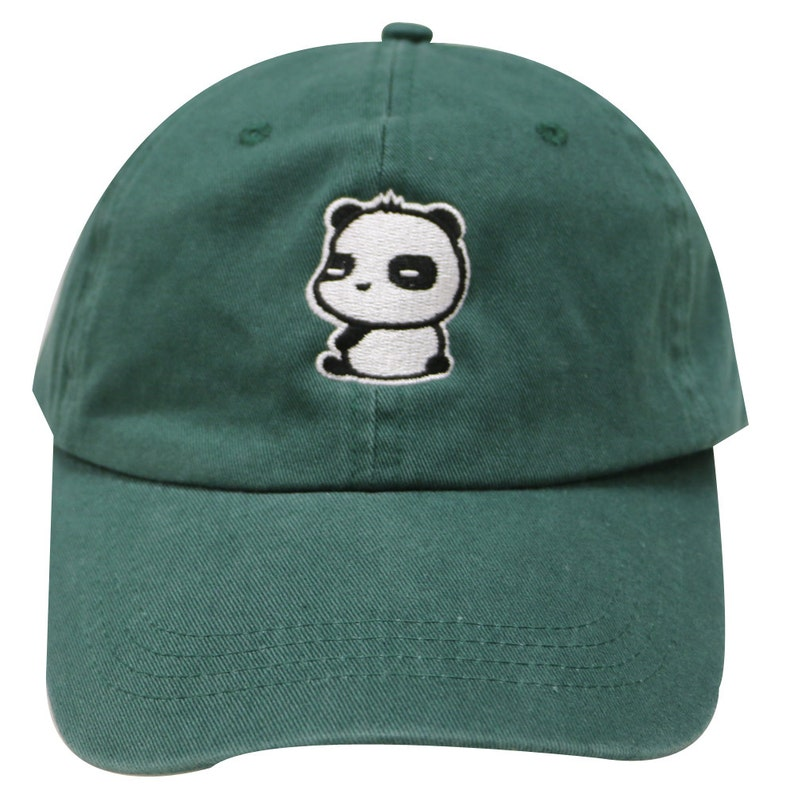 79b8e4fcf21 Capsule Design Cute Panda Dad Hat in Hunter Green