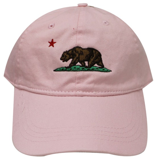 Capsule Design California Dad Hat in Pink  e508cb41802