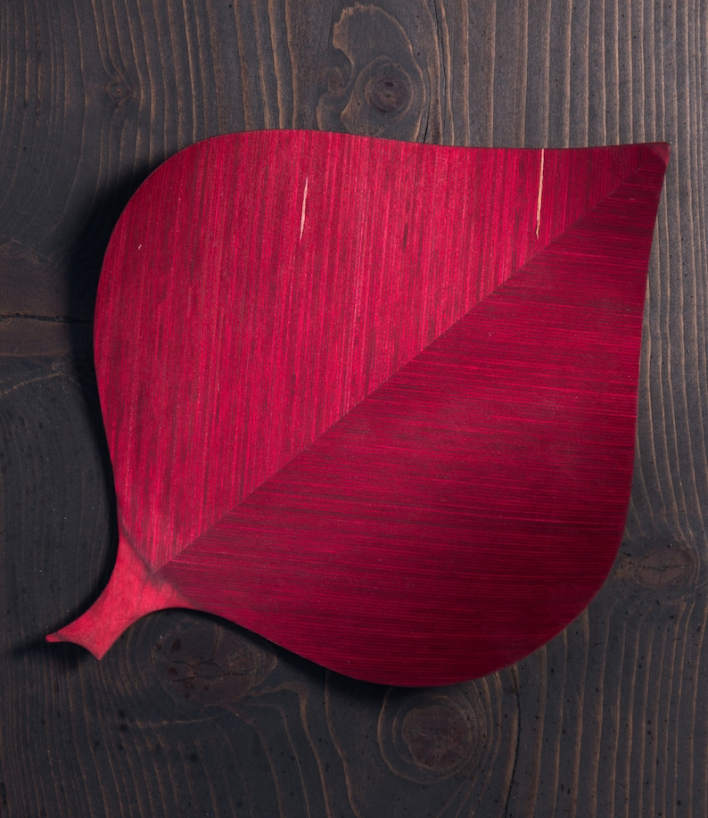 Luomus Koivu Serving plate a birch leaf inspired design plate or a serving tray