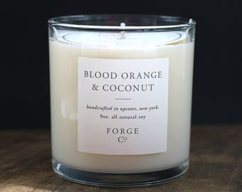 Blood Orange & Coconut Soy Wax Candle