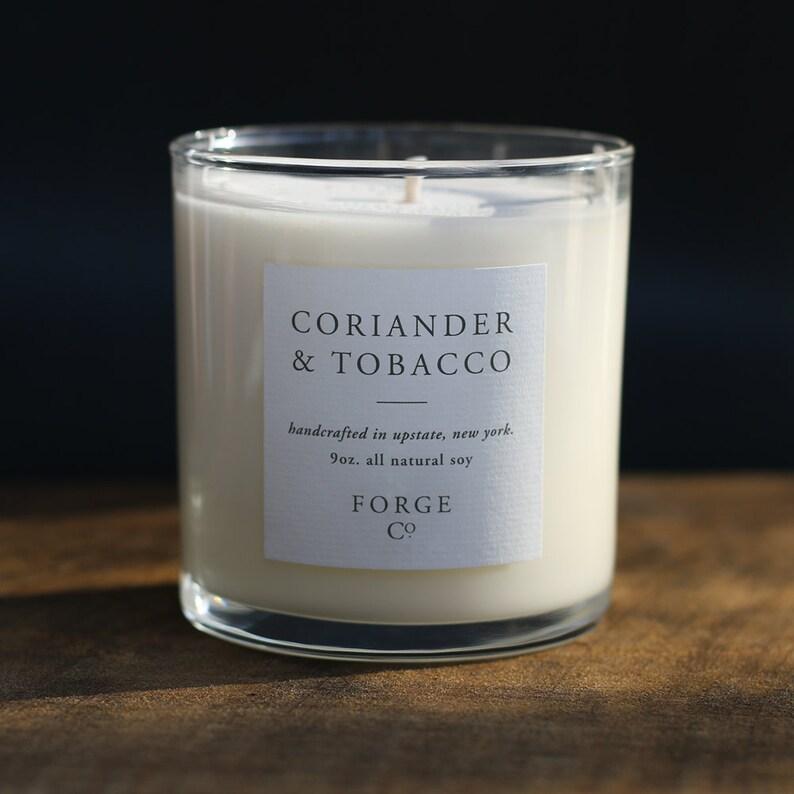 Coriander /& Tobacco Soy Wax Candle