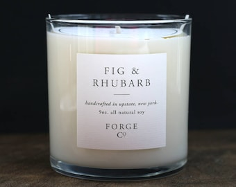 Fig & Rhubarb Soy Wax Candle