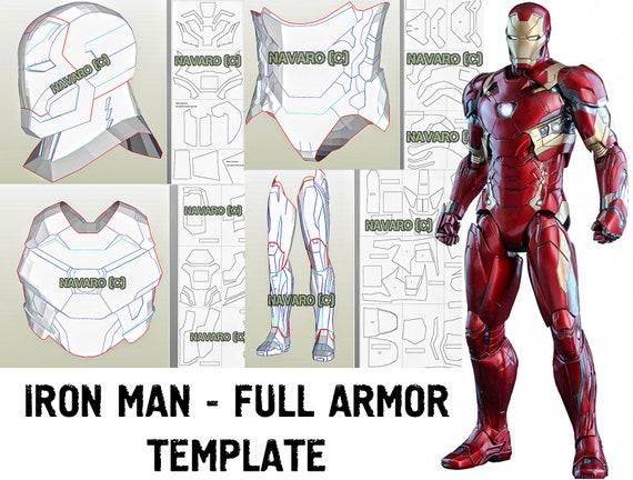 IRON MAN MK 46 (Foam Template) - Iron Man Armor Pattern - Pepakura -  Printable Pdf - Iron Man Cosplay - Civil War Iron Man