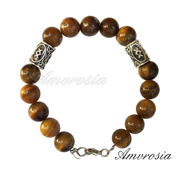 Sparta Bead Bracelet Viking Bracelet Bohemian Bracelets Jasper Bead Bracelet Mens Viking Bracelet Viking Mens Jewelry Viking Bracelet Man