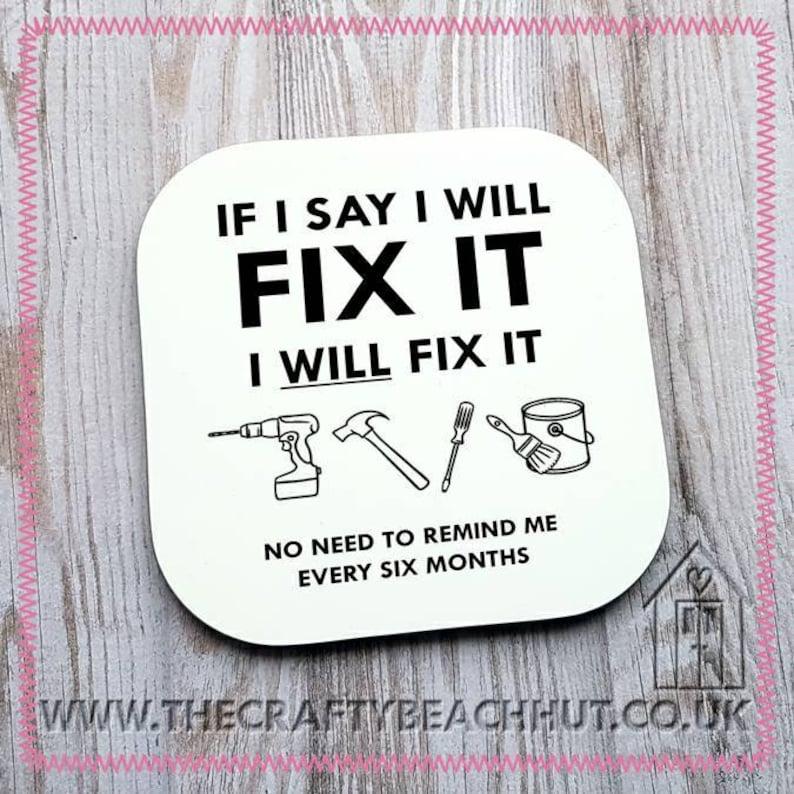 Fix It  DIY Glossy Coaster  Tea  Coffee  Hot Choc. Gift image 1