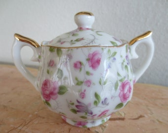 Nasco Rose Garden Pink Rose Chintz Vintage 1940/'s China Bowls