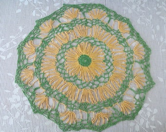 Vintage Round Hand-Crocheted Doily