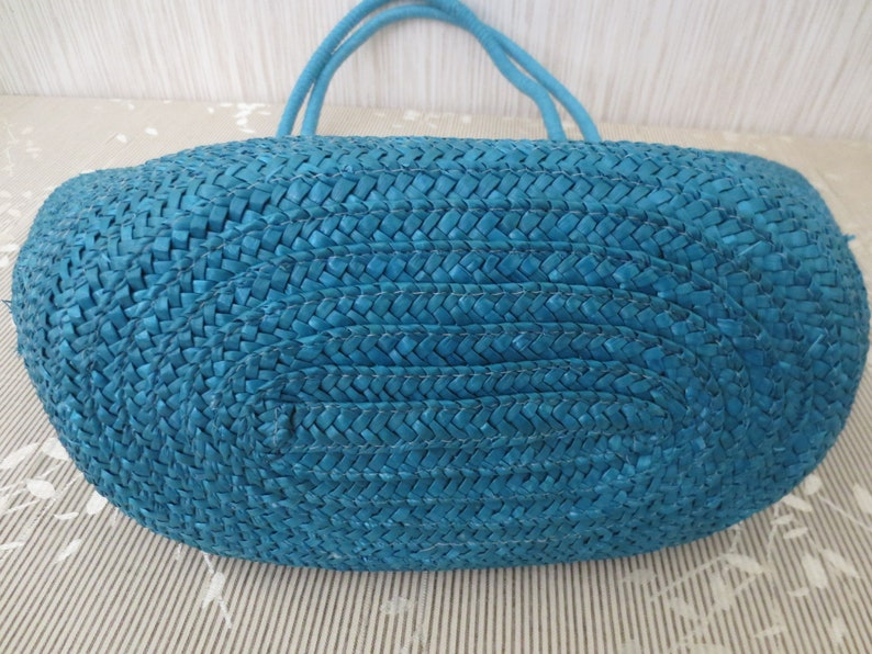 Large Beaded Cappelli Straworld Tote Handbag