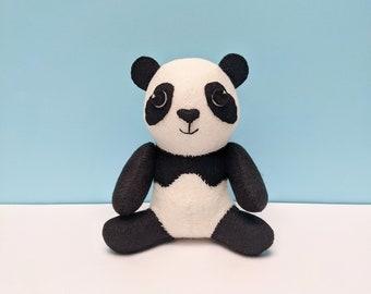 Cute Panda, felt ornament