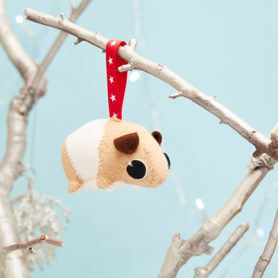Guinea pig hanging ornament, small gift idea