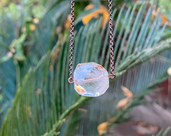 Phantom Rutilated Quartz on Copper Chain [leveling up, protection, transformation, spiritual connection]