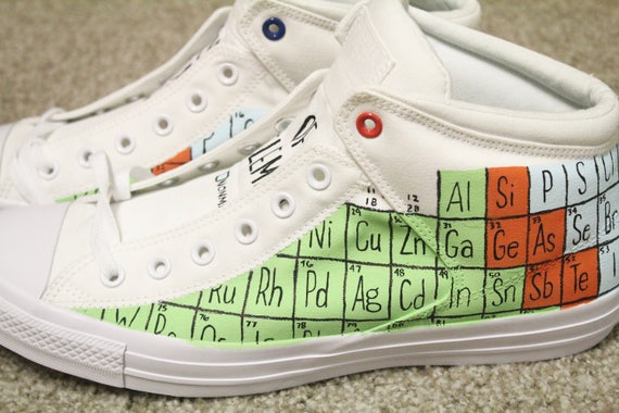 Periodic Table Of Elements Shoes Custom Made Shoes Custom Etsy