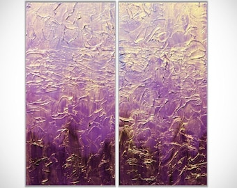Abstract Painting Abstract Art Purple Wall Art Acrylic Painting Large Wall Art Original Painting Wall Art Wall Decor Textured Canvas Art