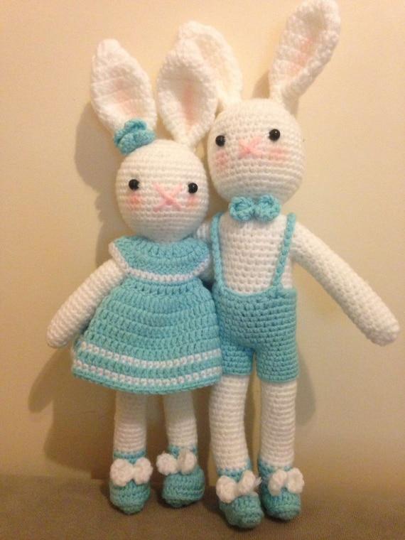 Verkoop Bunny Paashaas Bunny Baby Speelgoed Haak Baby Etsy
