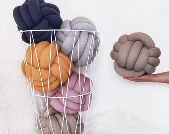 Gen - Z yellow knot Pillow .  Large Knot pillow , knot cushion ,decorative pillow , house warming gift idea, wedding gift, new home decorati
