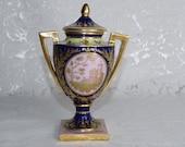 Royal Vienna Porcelain Vase Amphora Old Porcelain Vienna Porcelain Austria Vase Lid Vase