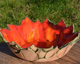 Ceramic Autumnal Bowl