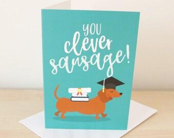 Graduation card / Funny graduation / Graduate / You passed / Degree / Congrats card / Congratulations card / Well done card