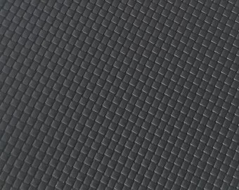 BLACK WEAVING PATTERN Leather,faux leather sheet,8x11 faux leather,black faux leather, black vegan leather, faux leather fabric