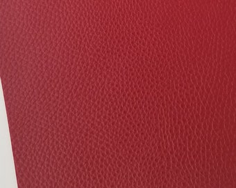 CRIMSON TEXTURED faux leather sheets, 8x11 faux leather, red vegan leather, red fake leather,red faux leather, faux leather fabric