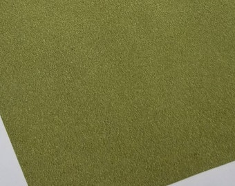 SUEDE: OLIVE GREEN faux leather sheets,8x11,faux leather sheets,green suede leather, green vegan leather sheet,fake leather, leather fabric