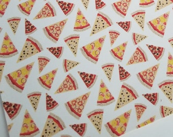 PIZZA- custom faux leather sheets,8x11 faux leather,pizza fabric,pizza faux leather,vegan leather,pizza material material for earrings