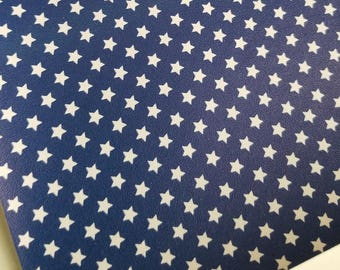 BLUE STARs,American flag faux leather sheets,8x11 faux leather,USA flag material,USA fabric,faux leather,vegan leather,faux leather fabric
