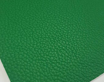 Green Faux Leather Evergreen Pebble Faux Leather Sheet Green Leather Sheet Leather Fabric Bows Evergreen Faux Leather for Jewelry