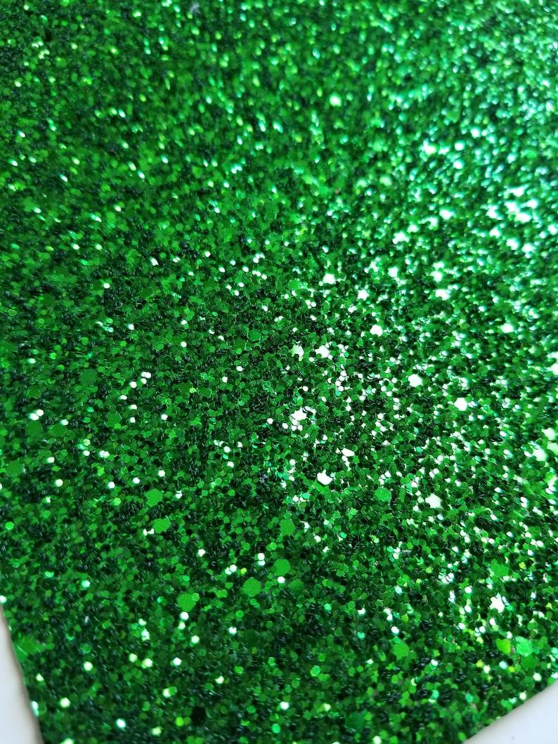 SUPER CHUNKY GREEN glitter canvas sheet,8x11 canvas sheet,green glitter sheet,green glitter canvas, fabric sheet,glitter fabric material photo