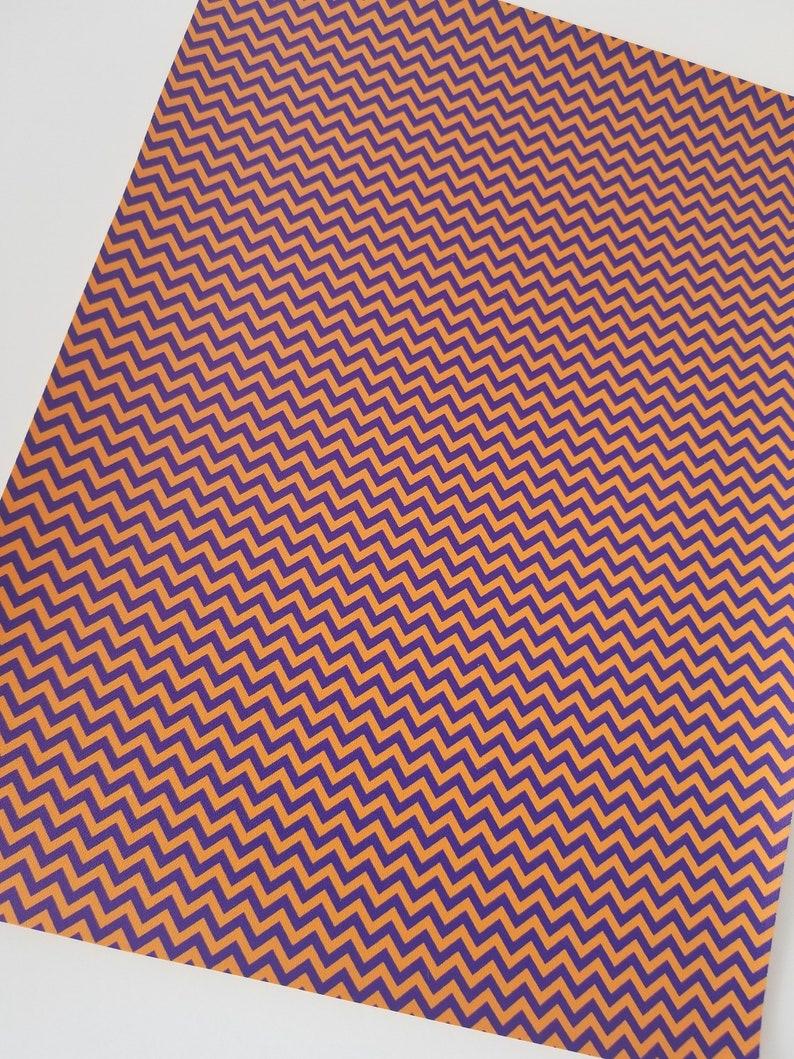 CLEARANCE Imperfect Small ORANGEBLUE Chevron custom faux leather sheets,8x11 faux leather,chevron fabric,chevron material custom faux