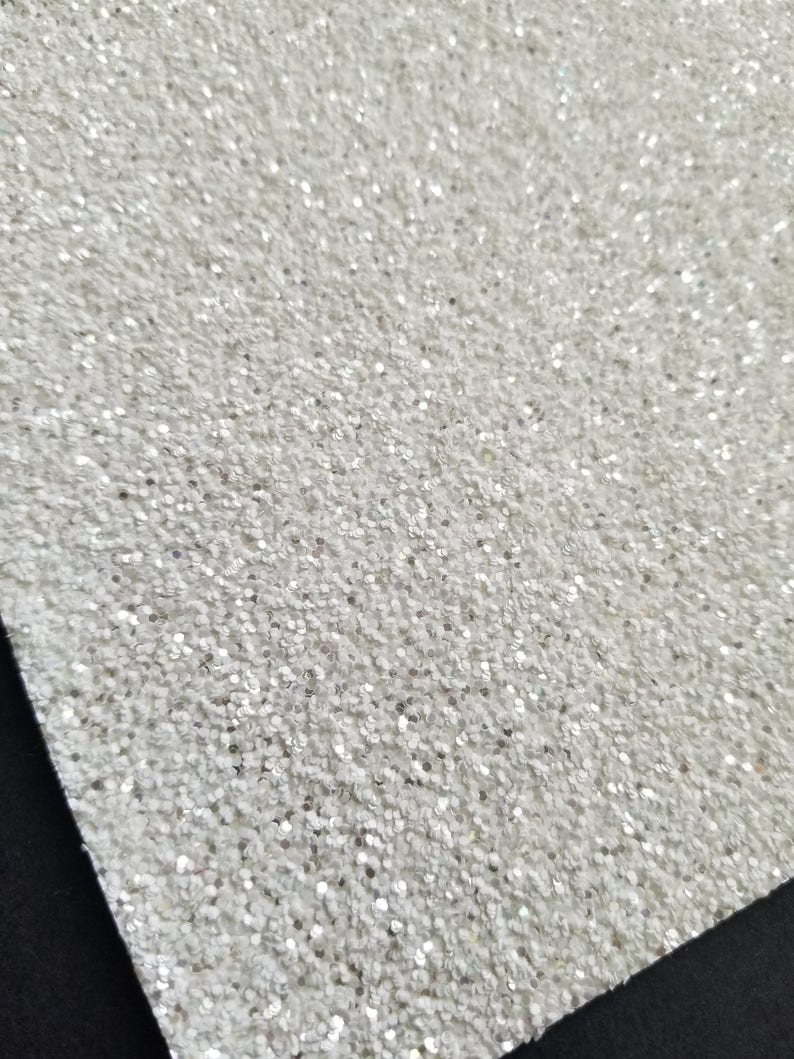 FROSTY WHITE chunky glitter canvas sheet,8x11 canvas sheet,glitter sheet,white glitter canvas,glitter fabric sheet,glitter fabric material photo