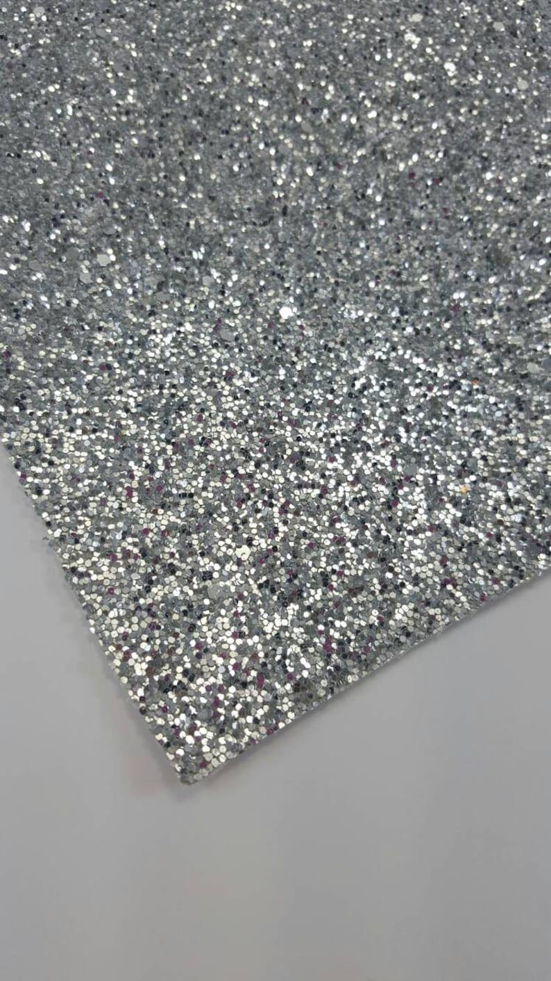 LT SILVER chunky glitter canvas sheet,8x11 canvas sheet,silver glitter sheet, glitter canvas,glitter fabric sheet,glitter fabric material photo