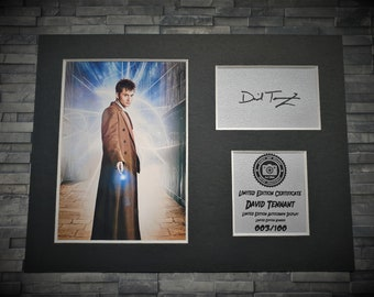 David Tennant - Doctor Who - Signed Autograph Display - Fully Mounted and Ready To Be Framed - Dr Who