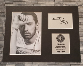 Eminem - Slim Shady - Marshall Mathers - Signed Autograph Display - Mounted And Ready To Be Framed - Limited Edition - Rap Hip Hop