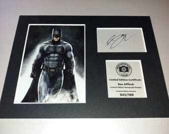 Ben Affleck - Batman - Justice League - Signed Autograph Display - Fully Mounted and Ready To Be Framed