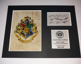Harry Potter - Limited Edition Autograph Display - Fully Mounted Ready To Be Framed - Cast Signed - Emma Watson, Alan Rickman, Tom Felton...