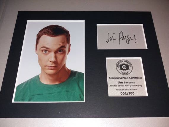 Jim Parsons Sheldon Cooper Signed Mounted Photo Display The Big Bang Theory Autographed Gift Picture Print