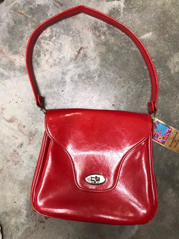 Vintage 60s/ Mod 1960's/ Retro/ Glossy Red/ Orange