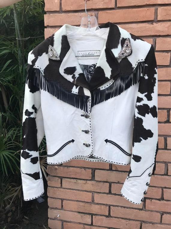 Vintage | Cowhide Cow Print Western Jacket | Size