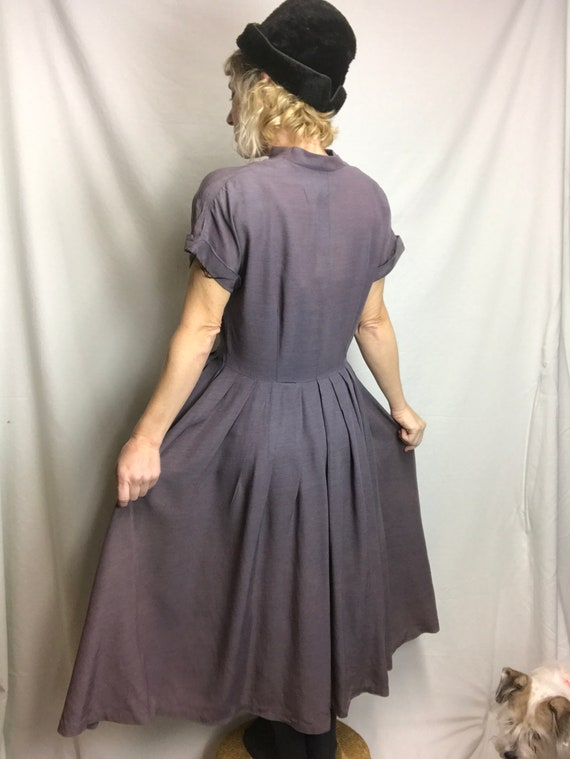Vintage 1940s 1950s Swing Dress Late 40's early 5… - image 4