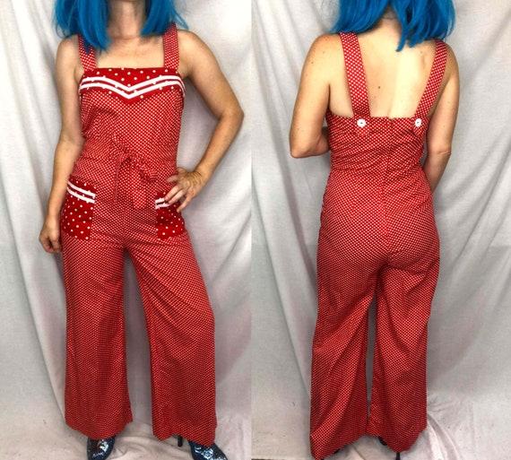 Vintage 70s | Red Polka Dot Sailor Arpeja Young Ed