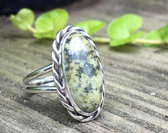 New Mexico Serpentine Sterling Silver Ring