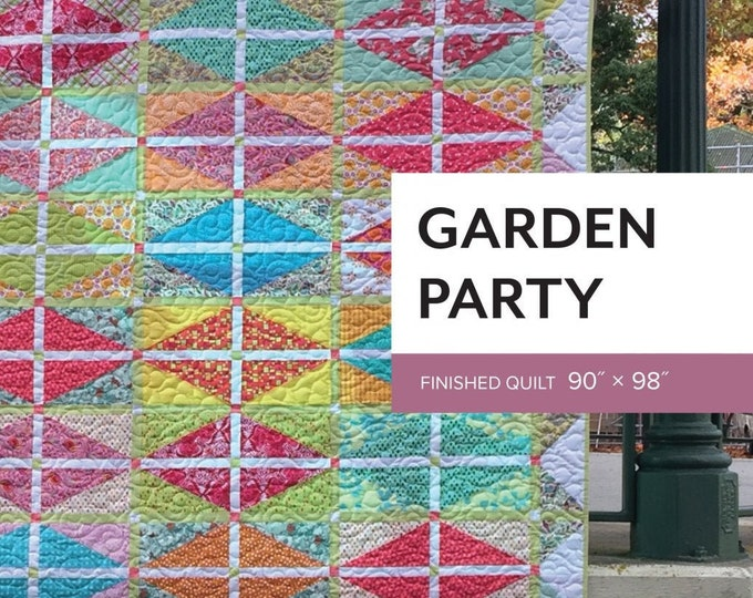 Garden Party Quilt Pattern by Sheila Christensen Quilts