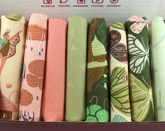 Woodland Nymph by Rae Ritchie for Dear Stella Fabrics - 8 print bundle -  Quilters Cotton