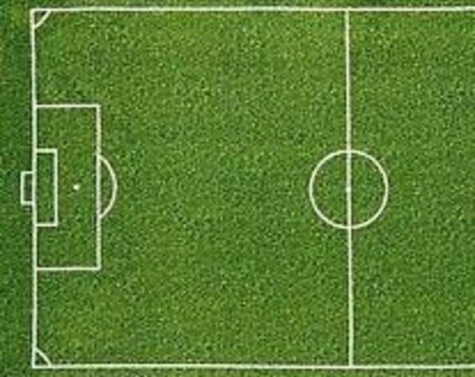 """Robert Kaufman - Sports Life 3 Soccer Field Panel - SRK-14616-47 Grass -  approx 24"""" x 44"""""""