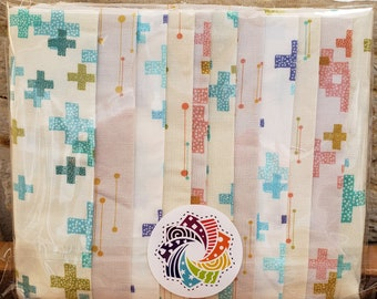 "Calliope Precut Kits - Colorbox Basics by Zen Chic by Moda Fabrics - Ten 6.5"" coordinating strips - Quilting Cotton"