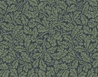 Jade Fabric A - Orkney by Morris and Co for Free Spirit Fabrics - PWWM050.Indigo