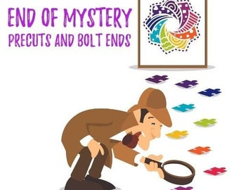 """End of Mystery - """"Aurora"""" Precuts and Bolt Ends (mystery grab bag - less than 1 pound)"""