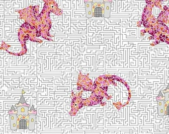 Michael Miller Fabrics - A-MAIZE-ING - CX8847 Pink-D - Juvenile