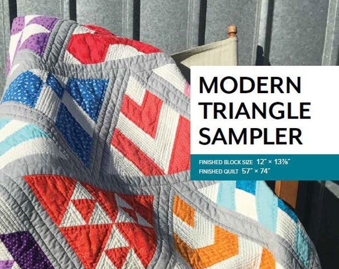 Modern Triangle Sampler by Sheila Christensen Quilts